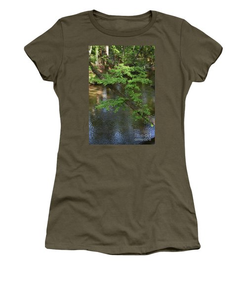 Women's T-Shirt (Junior Cut) featuring the photograph Green Is For Spring by Skip Willits