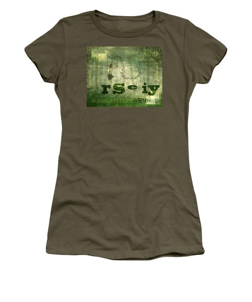 Green Knowings Women's T-Shirt (Athletic Fit)
