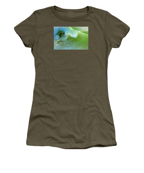 Green Machine Women's T-Shirt (Junior Cut) by Everette McMahan jr