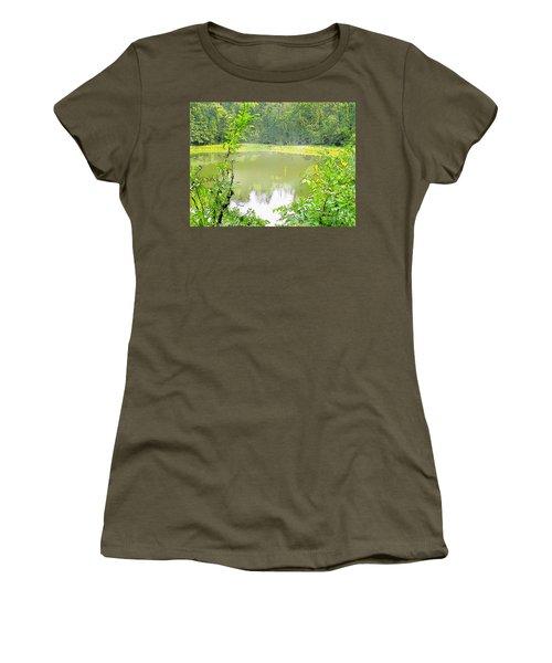 Green On Lake Women's T-Shirt