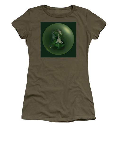 Green Orb Flower Women's T-Shirt