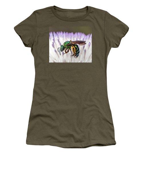 Green Orchid Bee Women's T-Shirt