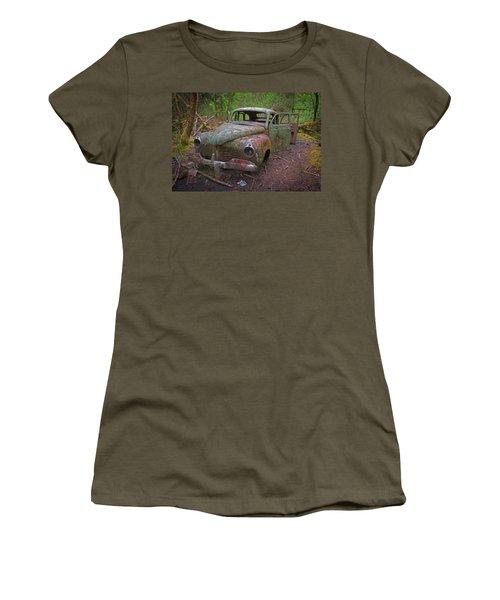 Green Relic Women's T-Shirt (Junior Cut) by Cathy Mahnke