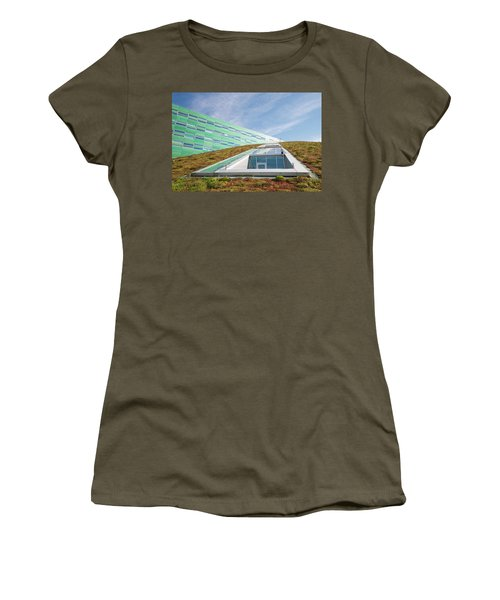Women's T-Shirt (Junior Cut) featuring the photograph Green Roof by Hans Engbers