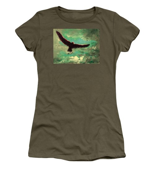 Green Sky Women's T-Shirt (Athletic Fit)