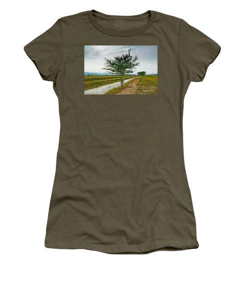 Green Tree Women's T-Shirt (Junior Cut) by Arik S Mintorogo
