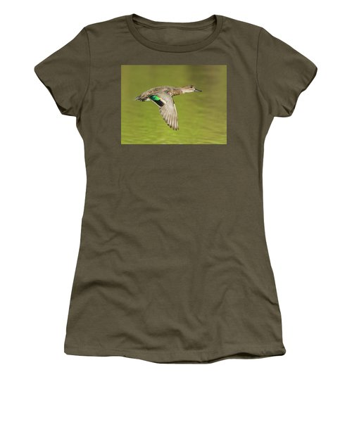 Green-winged Teal 6320-100217-2cr Women's T-Shirt