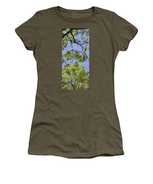 Greenery Right Panel Women's T-Shirt (Junior Cut) by Renie Rutten