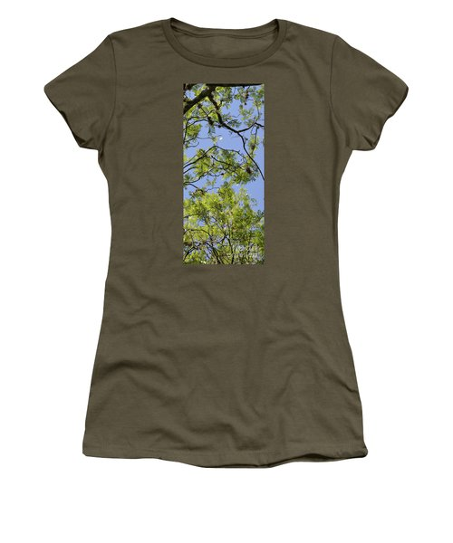 Greenery Right Panel Women's T-Shirt (Athletic Fit)