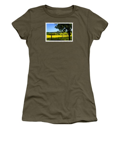 Greens And Golds Of Spring Farm Field Women's T-Shirt