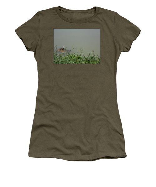 Women's T-Shirt (Junior Cut) featuring the photograph Greenwood Gator Farm by Cynthia Powell