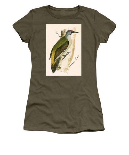 Grey Woodpecker Women's T-Shirt (Junior Cut) by English School