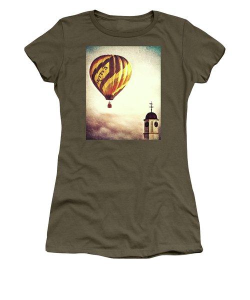 Gritty Mcduffs Hot Air Balloon Women's T-Shirt (Junior Cut) by Bob Orsillo