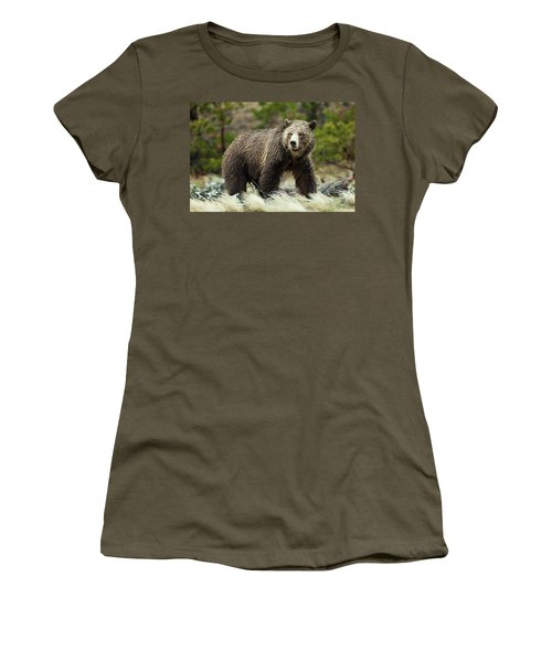 Women's T-Shirt featuring the photograph Grizzly Bear by Wesley Aston