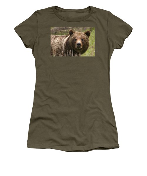 Grizzly Portrait Women's T-Shirt (Athletic Fit)