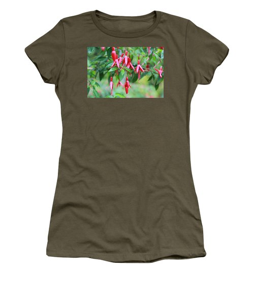 Women's T-Shirt (Junior Cut) featuring the photograph Growing In Red And Purple by Laddie Halupa