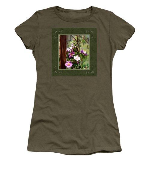 Women's T-Shirt (Junior Cut) featuring the digital art Growing Wild by Susan Kinney