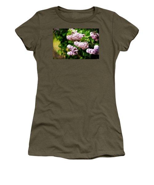 Grunge Lilacs Women's T-Shirt