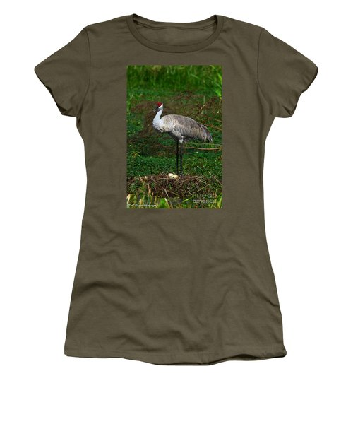 Guarding The Nest Women's T-Shirt (Athletic Fit)