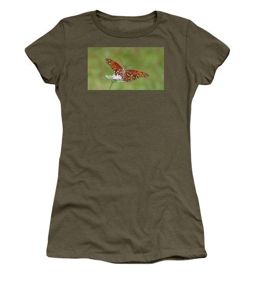 Gulf Fritillary On Elephantsfoot Women's T-Shirt