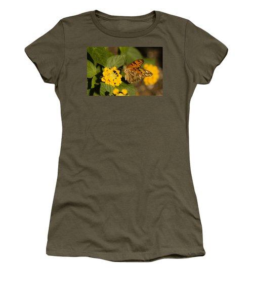 Gulf Fritillary Women's T-Shirt (Athletic Fit)