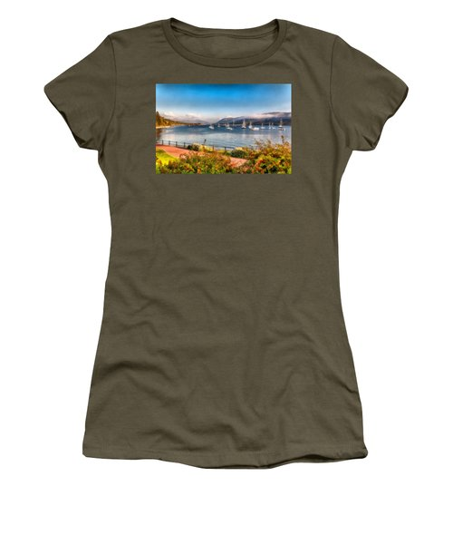 Women's T-Shirt (Junior Cut) featuring the photograph Gulf Of  Ullapool      by Sergey Simanovsky
