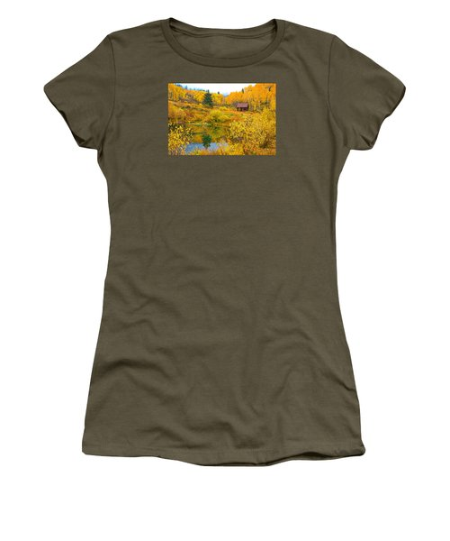 Gunnison Reflection  Women's T-Shirt (Junior Cut) by Bijan Pirnia