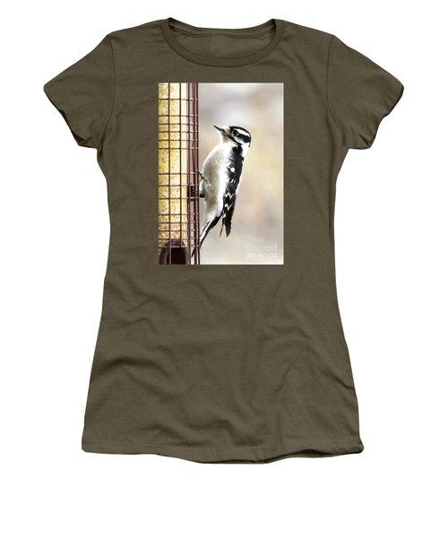 Hairy Woodpecker Women's T-Shirt