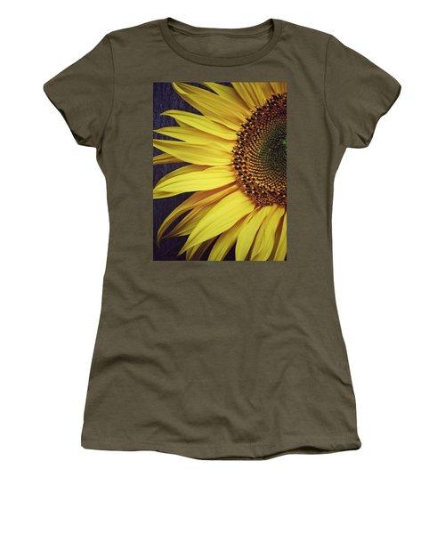 Women's T-Shirt (Junior Cut) featuring the photograph Half Yellow by Karen Stahlros