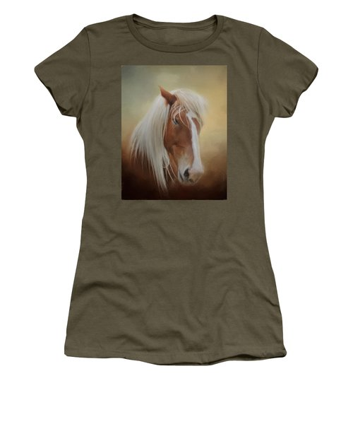 Handsome Belgian Horse Women's T-Shirt (Junior Cut) by David and Carol Kelly