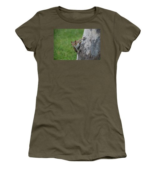 Women's T-Shirt (Junior Cut) featuring the photograph Hanging On by Rob Hans