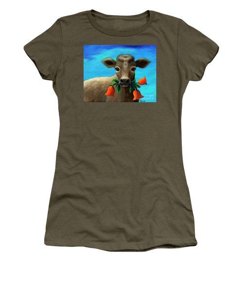 Happy Cow Women's T-Shirt (Athletic Fit)