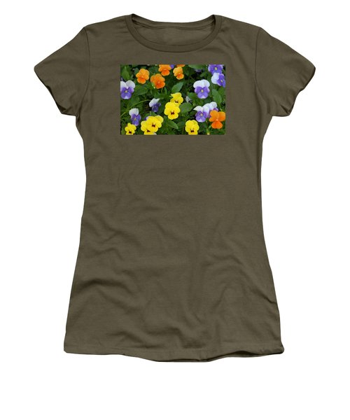 Women's T-Shirt (Junior Cut) featuring the digital art Happy Faces by Barbara S Nickerson