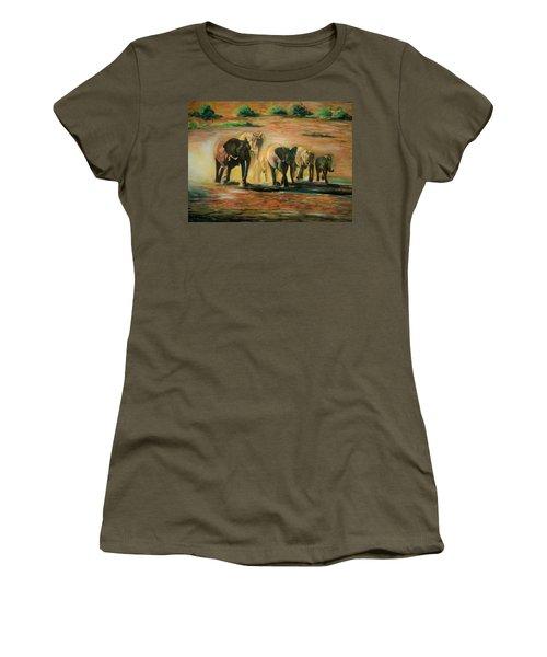 Happy Family Women's T-Shirt (Junior Cut) by Khalid Saeed