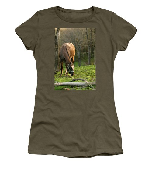 Happy Grazing Women's T-Shirt (Junior Cut) by Angela Rath