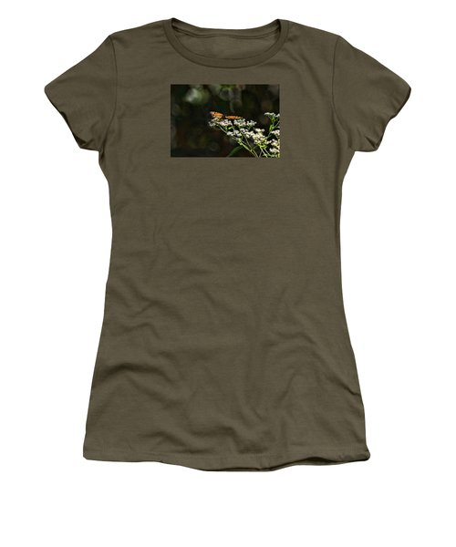 Women's T-Shirt (Junior Cut) featuring the photograph Happy Monarch by Rick Friedle