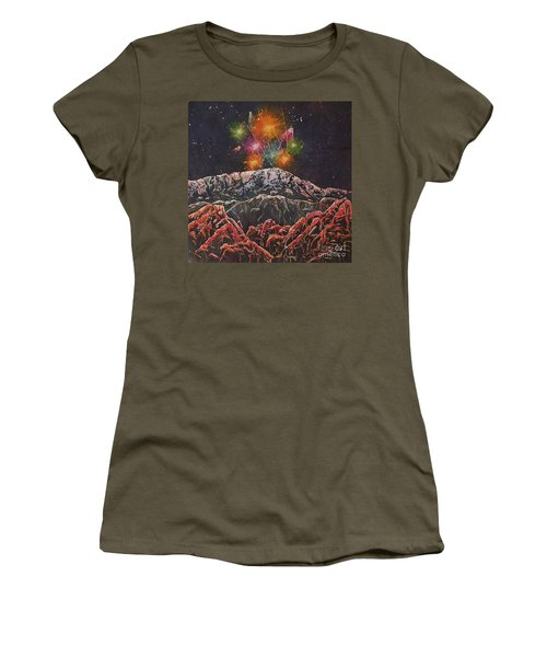 Happy New Year From America's Mountain Women's T-Shirt (Athletic Fit)