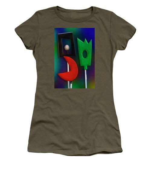 Women's T-Shirt (Junior Cut) featuring the photograph Happy Together  by Paul Wear