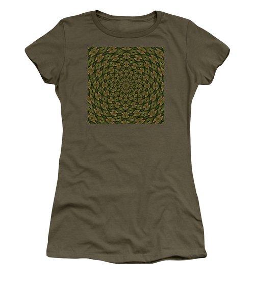 Hardwood Mandala Tile- Earthen Women's T-Shirt