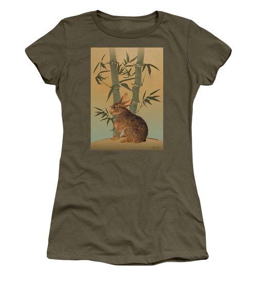 Hare Under Bamboo Tree Women's T-Shirt