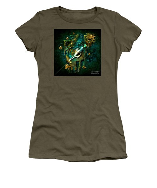 Women's T-Shirt (Junior Cut) featuring the painting Hatpin by Alexa Szlavics