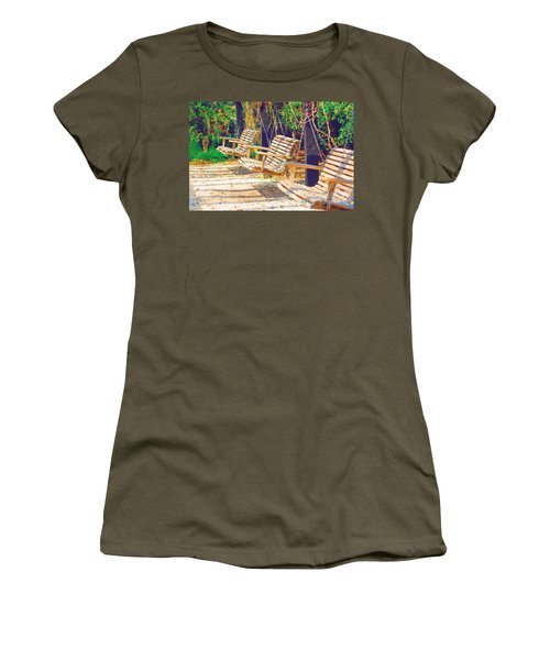 Women's T-Shirt (Junior Cut) featuring the photograph Have A Seat Relax by Donna Bentley