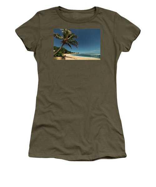 Hawaii Moonlit Beach Wainiha Kauai Hawaii Women's T-Shirt