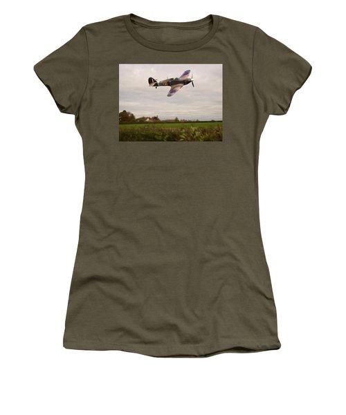 Hawker Hurricane -1 Women's T-Shirt (Junior Cut) by Paul Gulliver