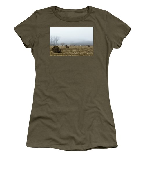 Hay Bales In A Field Women's T-Shirt