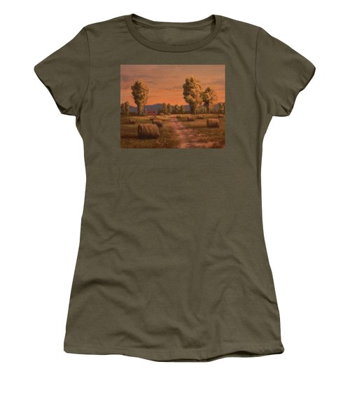 Hay Bales Women's T-Shirt (Athletic Fit)