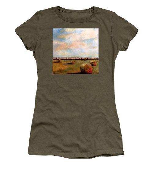 Hay Field Women's T-Shirt (Athletic Fit)