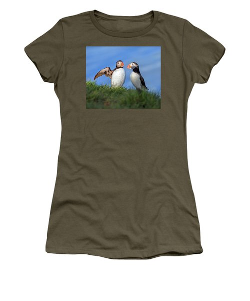 He Went That Way Women's T-Shirt (Junior Cut) by Betsy Knapp