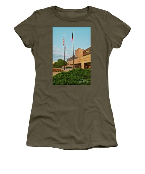 Women's T-Shirt featuring the photograph Health Sciences Medical Center by Mae Wertz