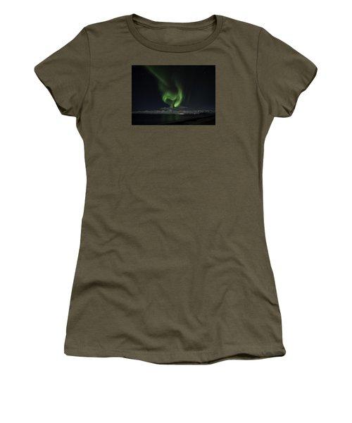 Heart Of Northern Lights Women's T-Shirt (Junior Cut) by Frodi Brinks
